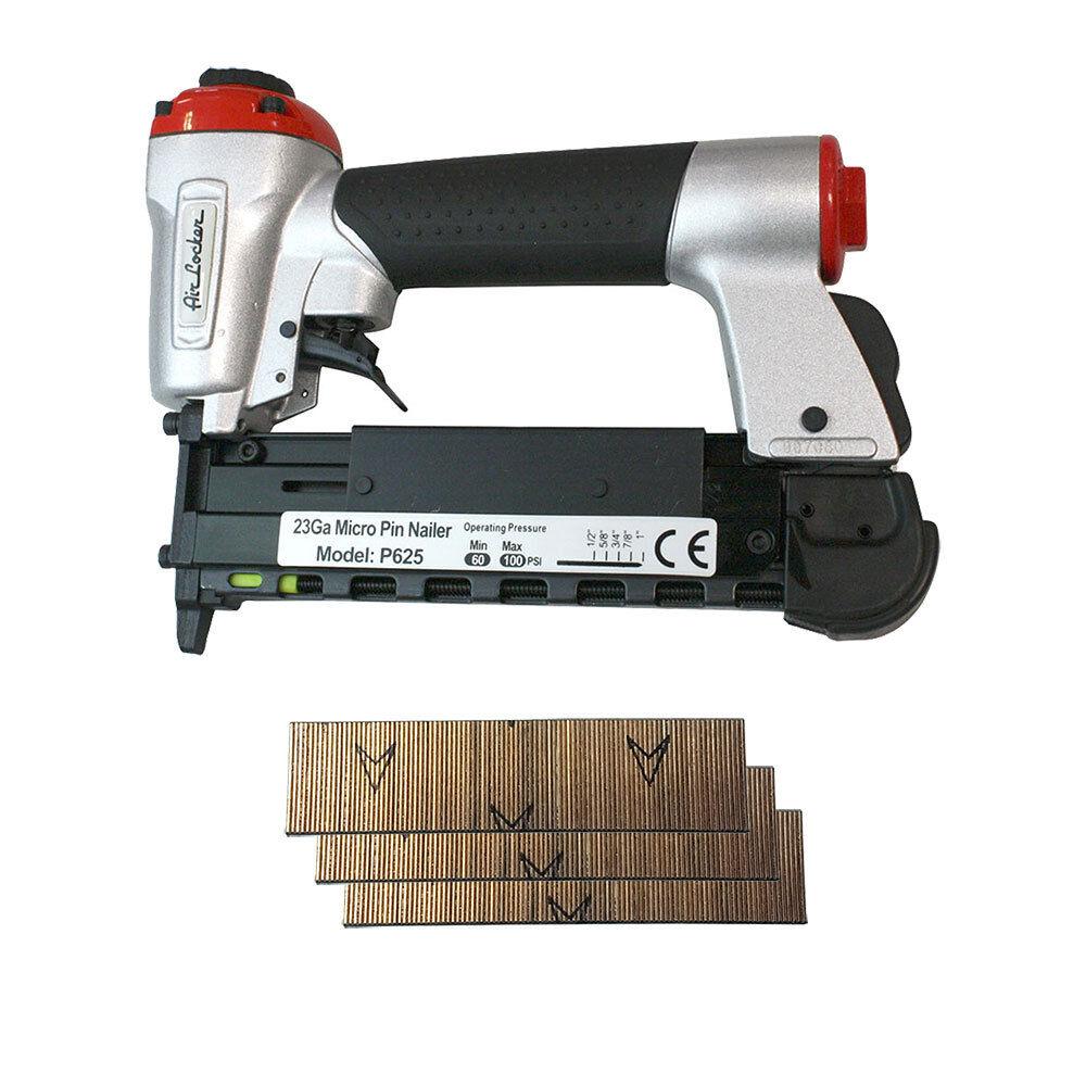 1 2 to 1 Inch Heavy Duty 23 Gauge Micro Pin Nailer Kit - P625K