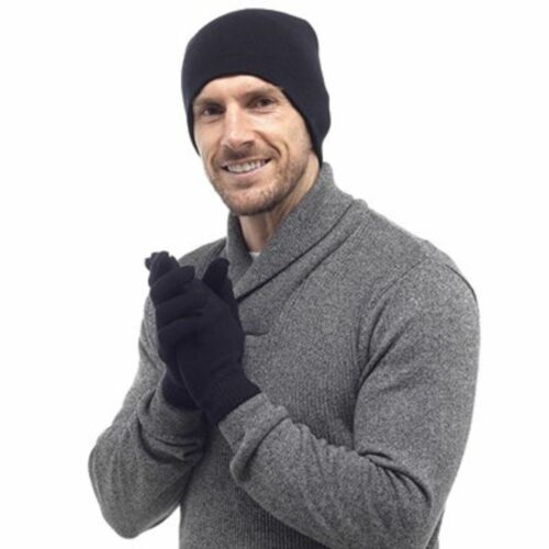 MEN THERMAL HAT AND GLOVES WARM WINTER IN GIFT BOX XMAS CHRISTMAS GIFT