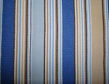 Longaberger Medium Berry Basket Cabana Blue Stripe Drop In Fabric Liner Only New