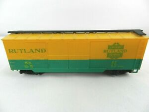 HO-Scale-40-039-034-Rutland-Green-Mountain-Gateway-034-100-Freight-Train-Box-Car-Rail
