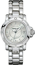 MODEL 102362 | MONTBLANC SPORT | BRAND NEW 34.5 MM STEEL WOMEN'S DIAMOND WATCH