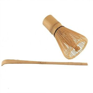 Chasen Tea Whisk and Chashaku Hooked Bamboo Scoop for preparing Matcha S-3702 AU