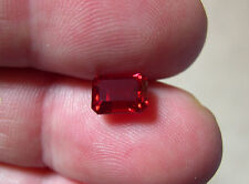 RUBIS VERNEUIL ROUGE SANG TAILLE EMERAUDE   6x8mm   IF