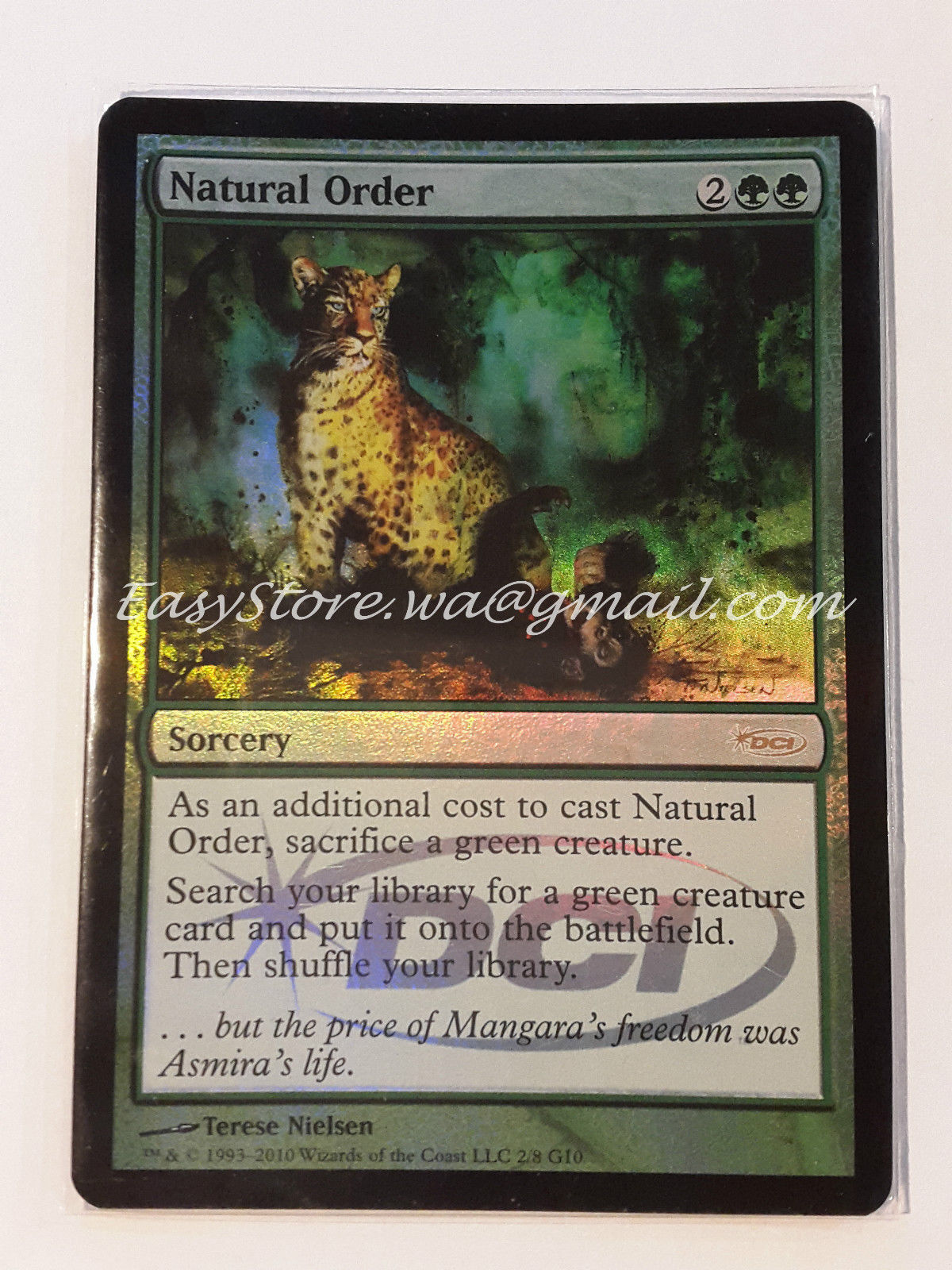 ORDINE NATURALE - NATURAL ORDER FOIL DCI  -    MTG MAGIC 9f17c0