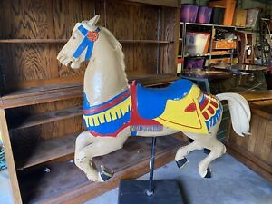 Antique Full Size Carousel Galloping Horse