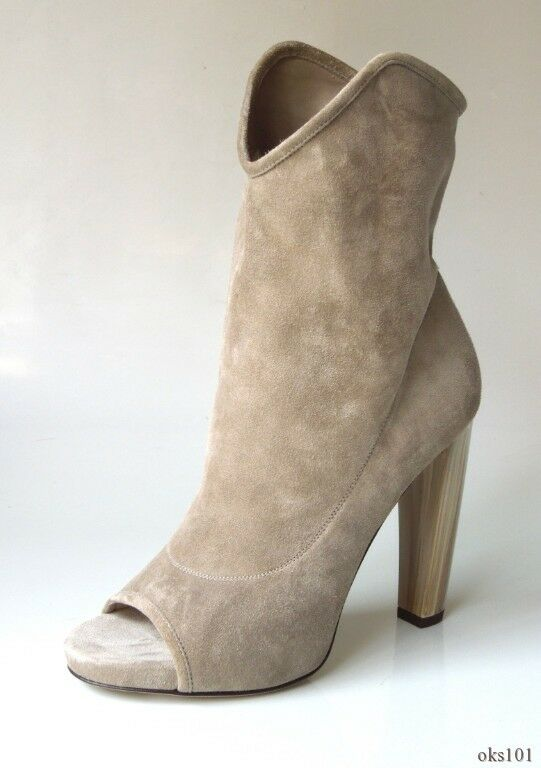 ec9d0aa0eb96d Jimmy Choo 'maja' Stone Grey Natural Suede Open-toe Ankle BOOTS 36 6 ...