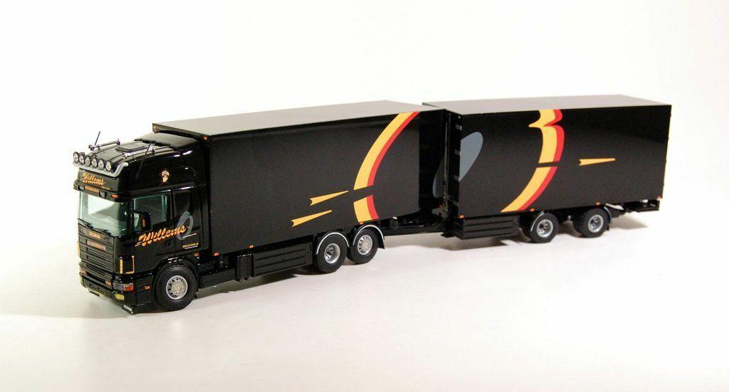 Tekno Scania 4-Serie Topline  motorwagen met wipkar 1 50 Willems (RG)  qualité officielle