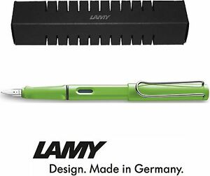 Lamy-Safari-Fountain-Pen-Green-All-nibs-available-Boxed
