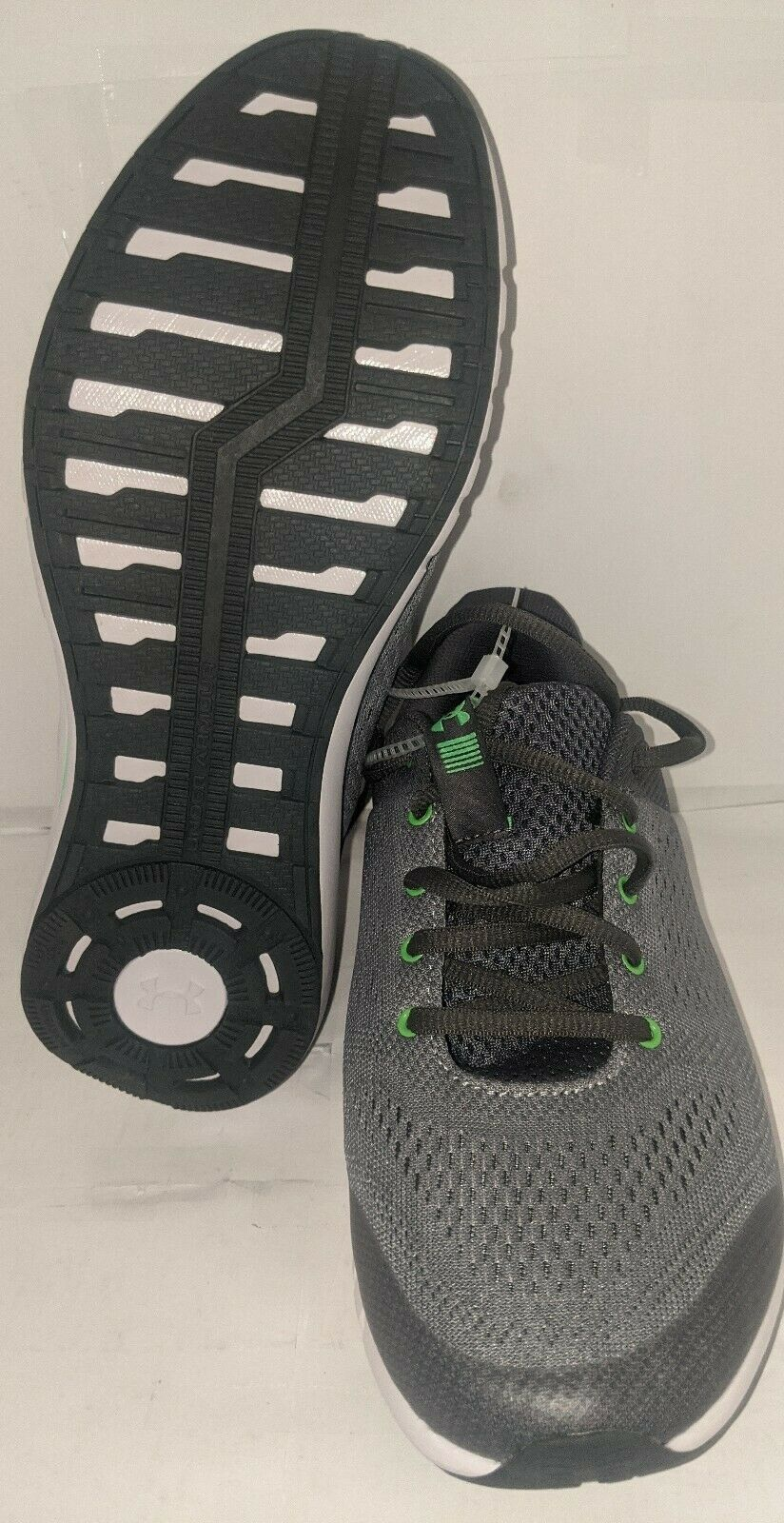 Youth Gray/lime Green Running Shoe Size