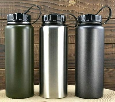 1000ml Stainless Steel For Office Outdoor Sports Cycling Camping Water Bottle
