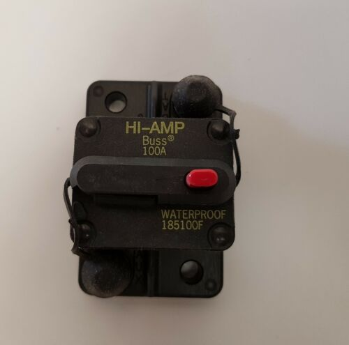 Bussman DC Circuit Breaker 100 Amp Waterproof 185100F Cooper Bussmann CB185-100F