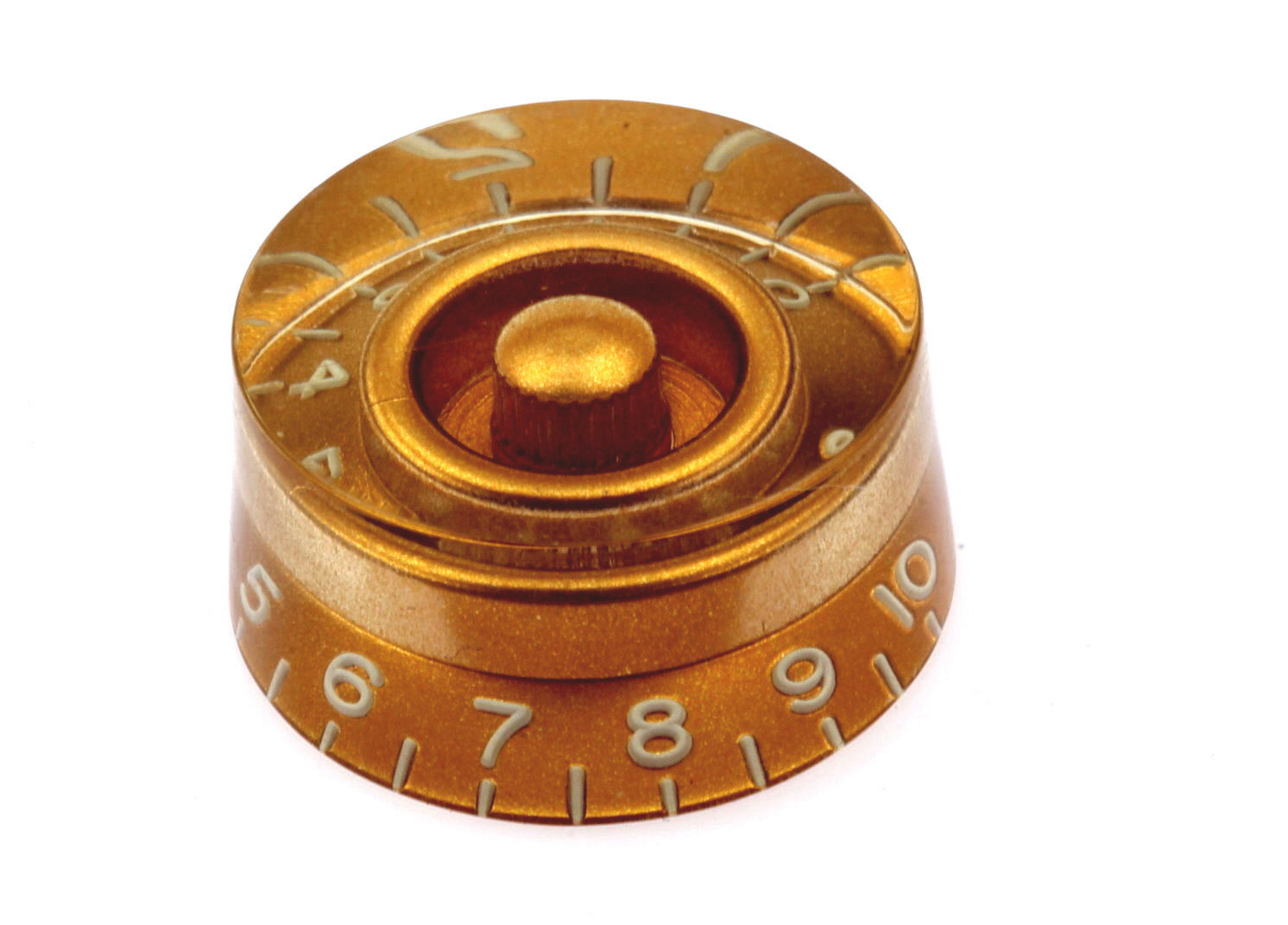 4 Gold Vintage tinted with tinted No/'s fits US//CTS Pots Gibson® Speed Knob Set