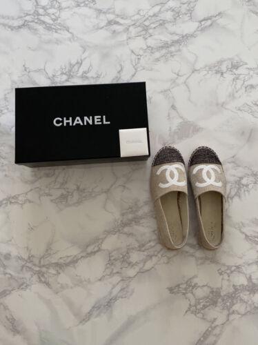 Chanel Toile Sequin Espadrille