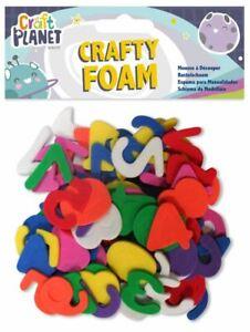 Crafty schiuma numero forme-colori assortiti-card making abbellimenti-UK