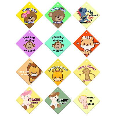 Cheeky Monkey On Board souris Voiture Signe Autocollant Bébé enfant enfants Sécurité Enfants