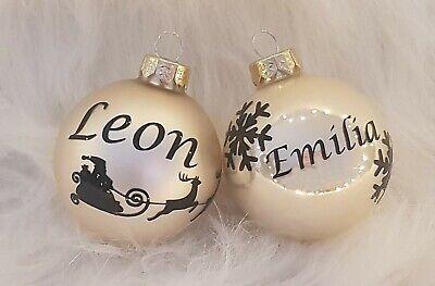 """Weihnachtskugel /""""Gold/"""" mit Wunschname 6cm   ♥ Geschenk Weihnachten"""