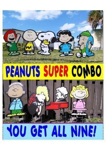 Peanuts and gang garden summer COMBO yard lawn art decoration