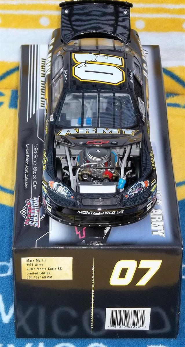 2007 Motorsports Authentics 1 24 Scale Scale Scale Mark Martin U.S. Army Drivers Select LE 1fcad9
