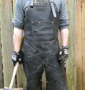 Black Leather Blacksmith Apron Q2s28ihdhj