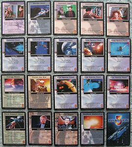 Part 1//4 Babylon 5 CCG Deluxe Edition Rare Card Selection