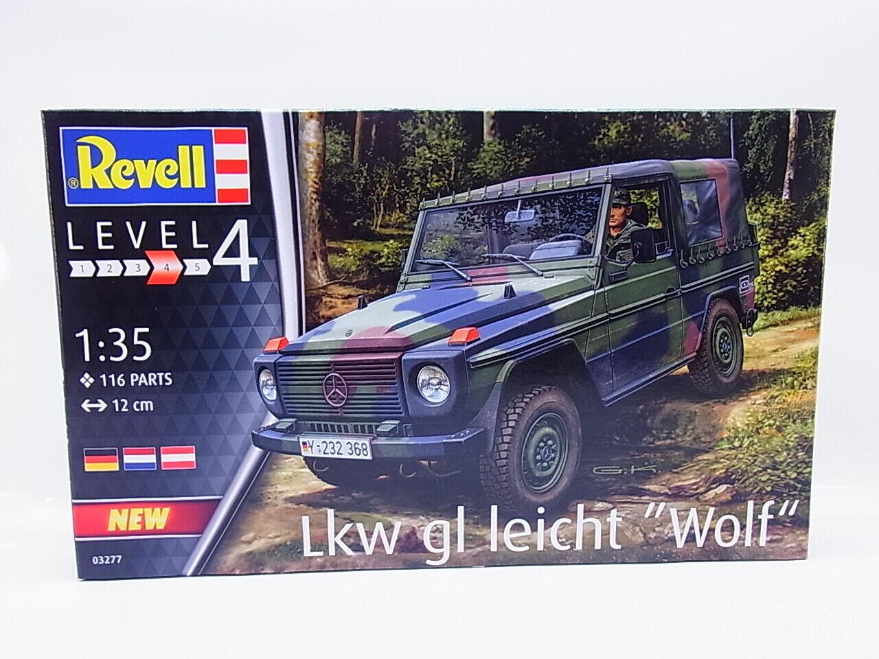 """Revell Militär Bausatz 1:35 03277 Lkw gl leicht /""""Wolf/"""""""