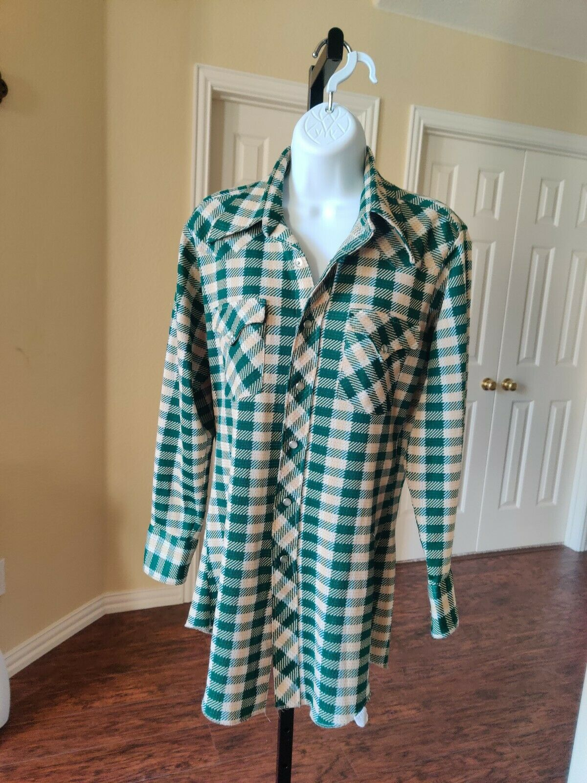 Vintage H Bar C Ranchwear  Plaid Shirt Sz 15.5-32… - image 1