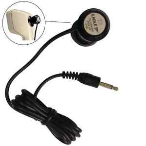 Black Telephone Pick Up Coil Sensitive Microphone NEW