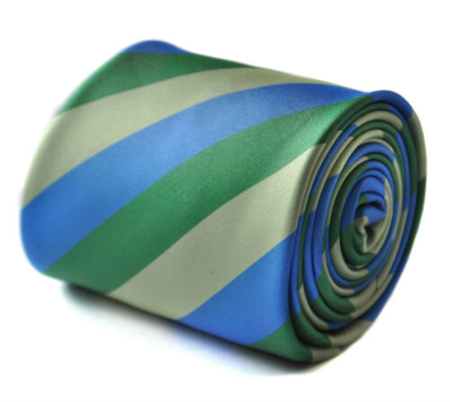 Frederick Thomas Green /& Royal Blue Mens Wedding Tie FT1700 RRP£19.99
