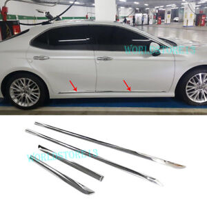 Chrome-Body-Side-Door-Molding-line-Cover-Trim-Garnish-fit-2018-2019-Toyota-Camry