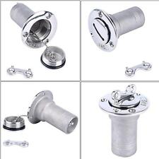 "1Deck Fill//Filler Keyless Cap 2/"" Gas Boat Marine 316 Stainless Steel Outlet Top"