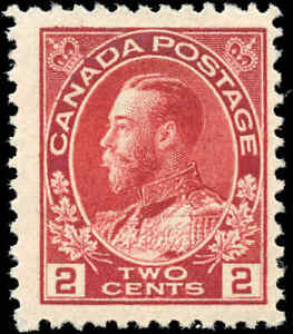 Mint-NH-Canada-F-Scott-106-2c-1917-1922-KGV-Admiral-Stamp