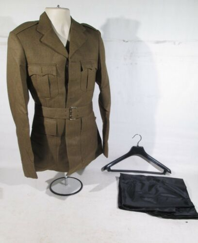 NEW British Army Dress FAD Tunic Uniform With Waist Belt /& Protective Bag