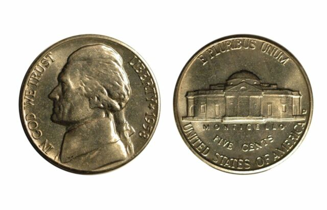 1958-D Jefferson Nickel  -  Gem BU   #267