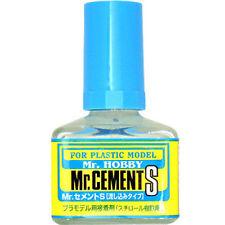 GSI CREOS GUNZE MR HOBBY MC129 Cement Glue S Extra Thin Non-Corrosive 40ml MODEL