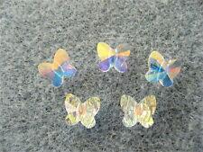 8 Crystal AB Swarovski Crystal Butterfly Beads 5754 6mm