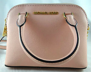 3a84e6d6c175 Michael Michael Kors Cindy XS Crossbody Pastel Pink Saffiano Leather ...