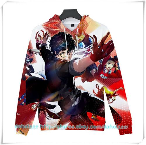 Anime Persona 5 Sweatshirts Otaku Men/'s Sweater Casual Hoodie Unisex Coat 9 size