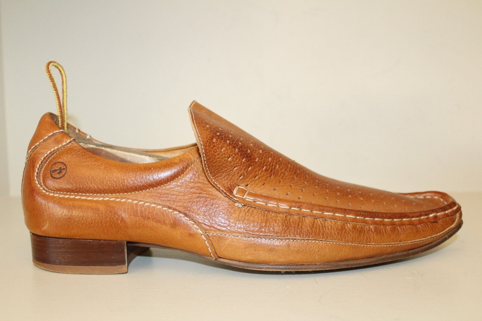 Bronx Mens Loafer shoes Sz US 10.5-11   Brown Leather Slip On Pointed Toe
