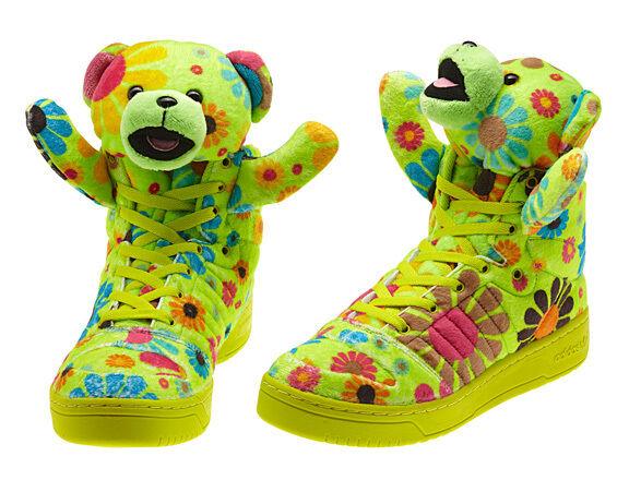 f05fba6397bf Adidas OBYO JS Jeremy Scott Multi Teddy Bear UK 5 US 5.5 EU 38 Slim green
