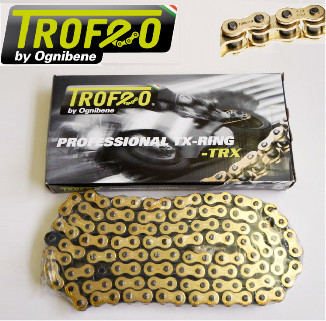 TROFEO CATENA ORO X-RING 520 TRX 120 MV AGUSTA B4 BRUTALE 750 ORO 2003-2005