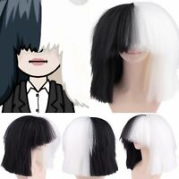 Sia Style - Black And White Oversized Wig, Fashion, Dance, Womens, Mens, Costume