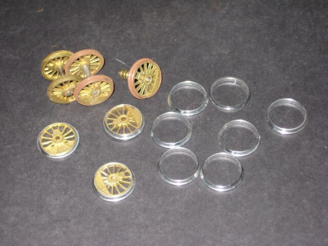 """HO Brass Steam Engine Drivers - 63"""" (8) Tires (10) axles 3. Some machined. C-8"""