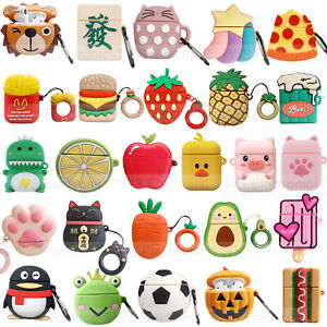 3d Cute Cartoon Silicone Airpod Protective Case Cover Skin For Apple Airpods 1 2 Ebay