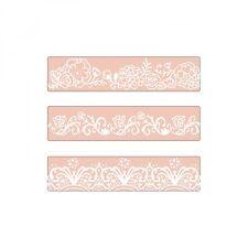Sizzix Texture Impressions Embossing Folders Bordo Set 3pk David Tutera Floreale