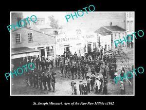 OLD-LARGE-HISTORIC-PHOTO-OF-St-JOSEPH-MISSOURI-VIEW-OF-THE-PAW-PAW-MILITIA-c1862