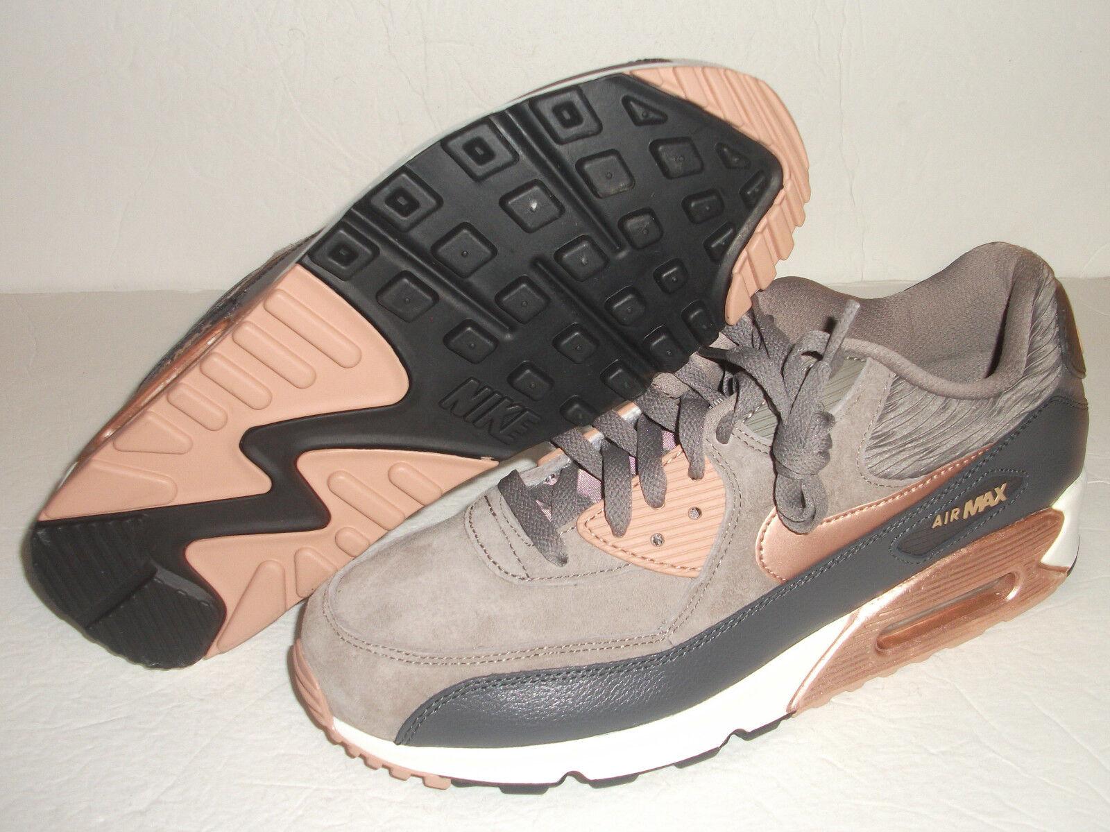New Nike Air Max 90 Leather Running, Women's Size 11, Iron Metallic, 768887-201