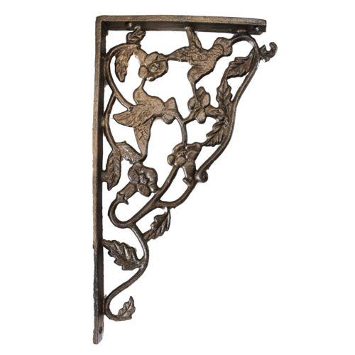 Cast Iron Hummingbird Shelf Brackets Bronze Finish sold as Pair 2pcs