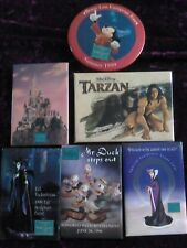 Collection of 6 WDCC badges Maleficent, Mickey, Enchanted Castle, Tarzan