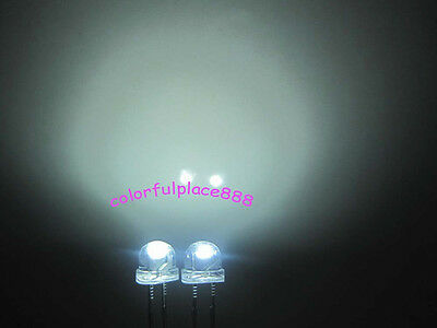 1000pcs 5mm Green Straw Hat LED 15000MCD Wide Angle Water Clear Leds Light New