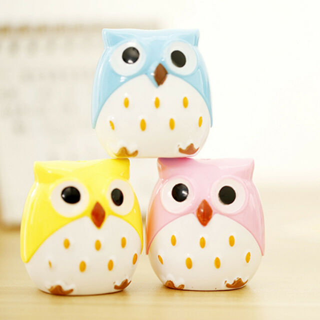 1x Cute Charming Creative Stationary Funny Owl Pencil Sharpener High Quality Hot
